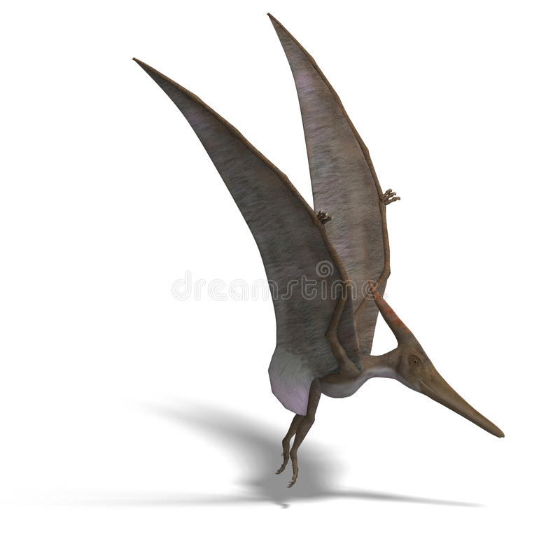 Download Dinosaur Pteranodon stock illustration. Image of computer - 10328607