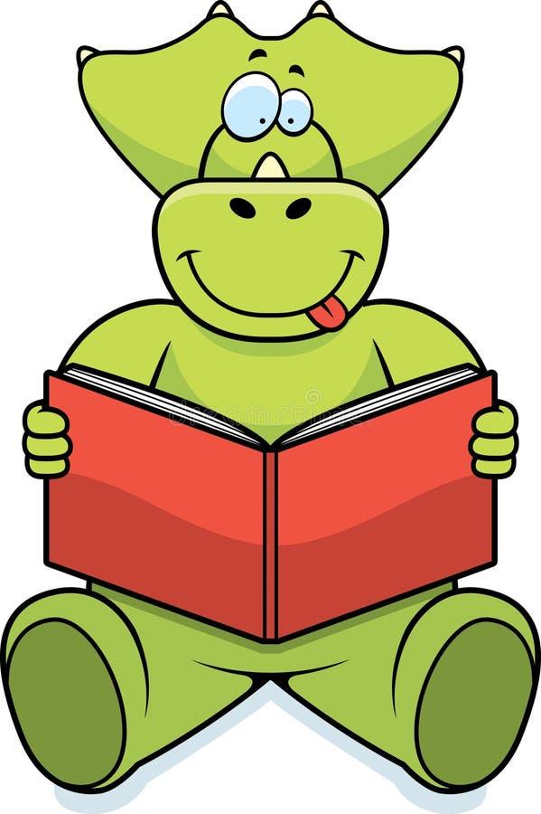 Dinosaur Reading stock vector. Illustration of triceratops ...