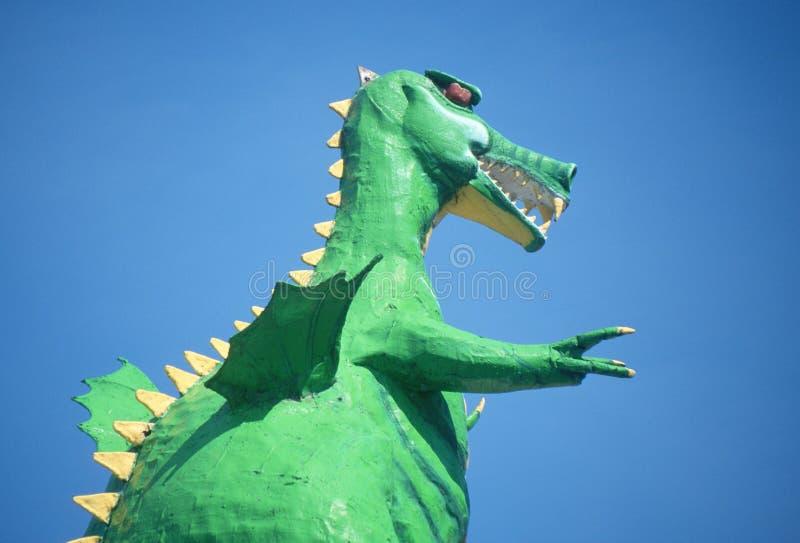 Dinosaur roadside attraction, Pigeon Fork, TN stock images
