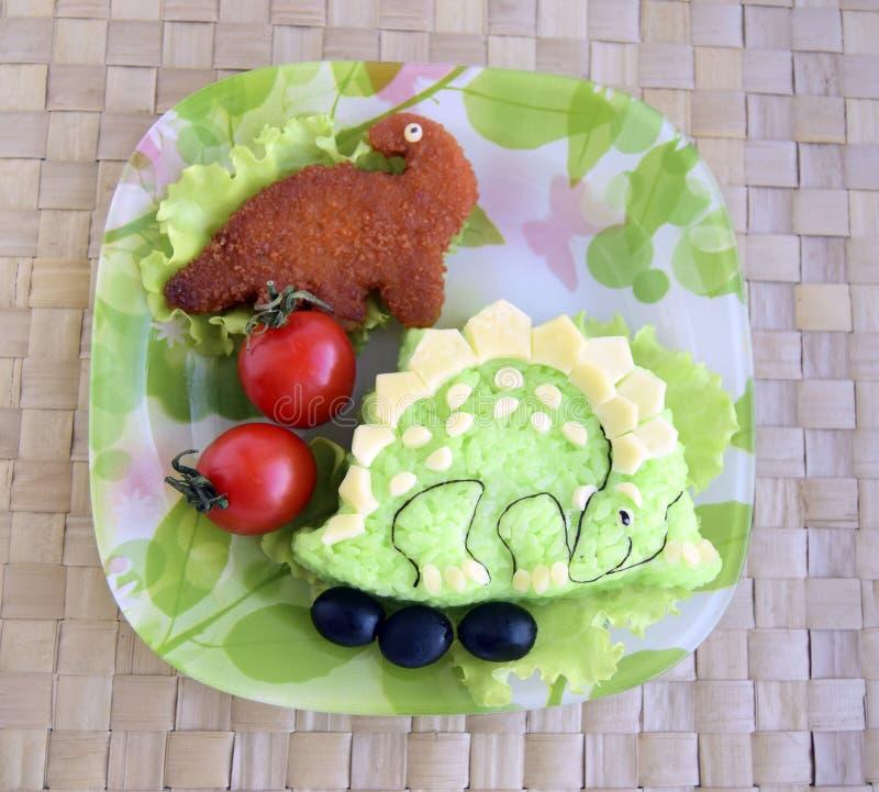 Dinosaur robią ryż Kyaraben, bento zdjęcia royalty free