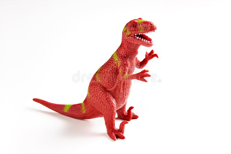 Dinosaur rubber toy stock photos