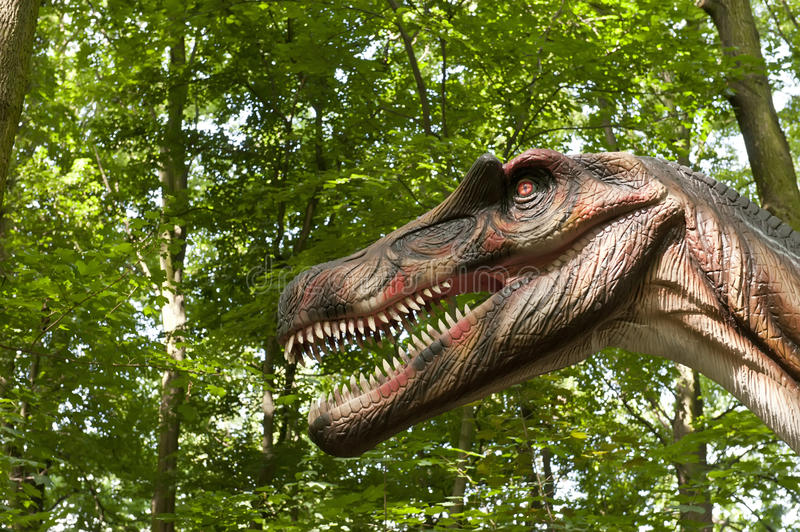 Download Dinosaur's head stock photo. Image of fang, body, anger - 25481202
