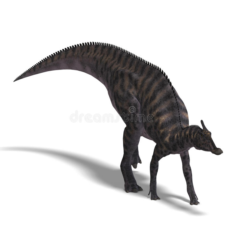 Dinosaur Saurolophus illustration de vecteur