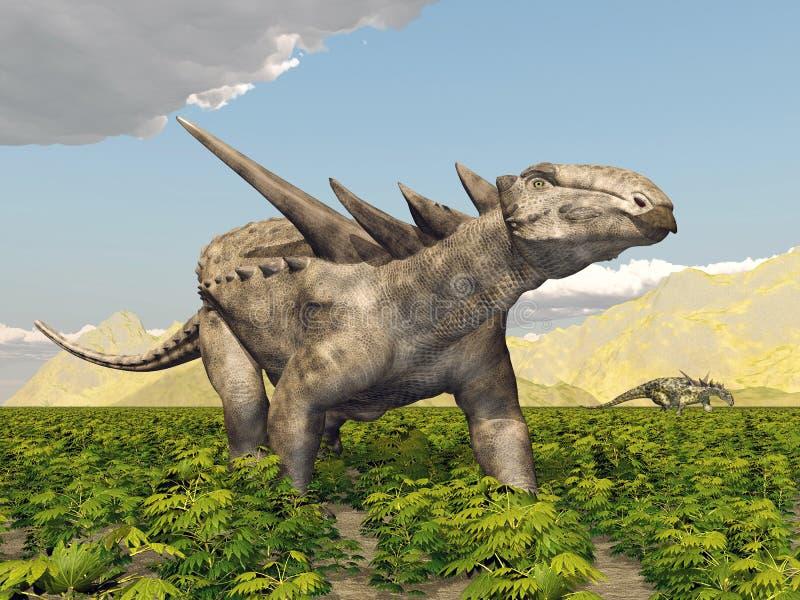 Dinosaur Sauropelta royalty ilustracja