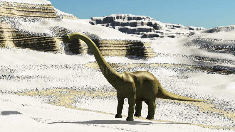 Dinosaur sceny 3d Jurajski prehistoryczny rendering ilustracja wektor