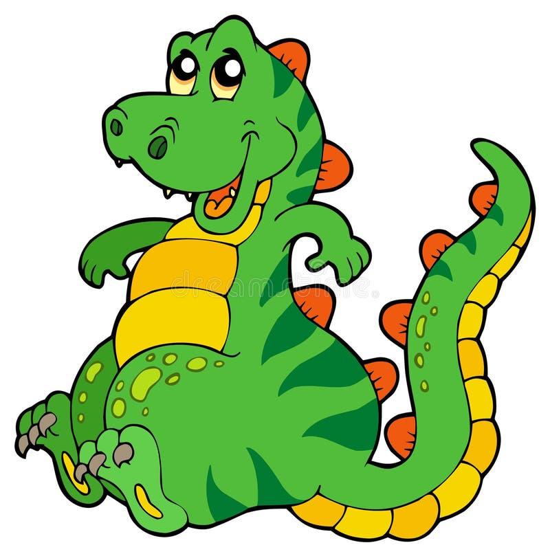 Dinosaur se reposant mignon illustration de vecteur