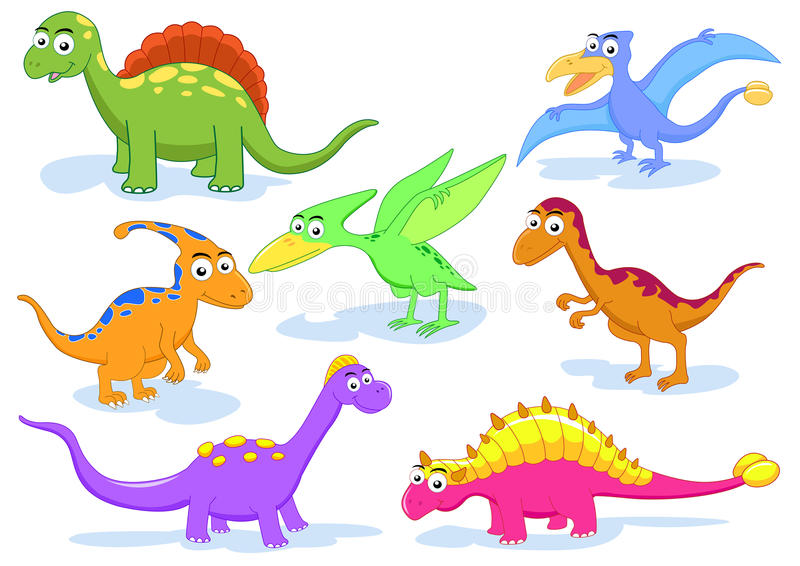 Dinosaur set stock illustration