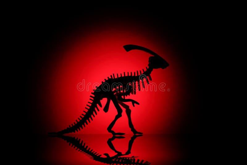Dinosaur silhouette royalty free stock photos