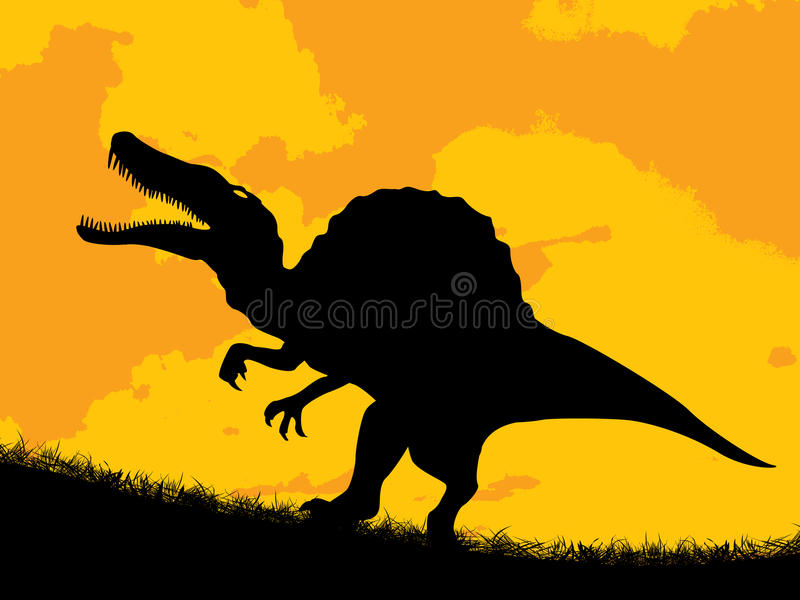 Download Dinosaur silhouette stock vector. Image of over, force - 27301908