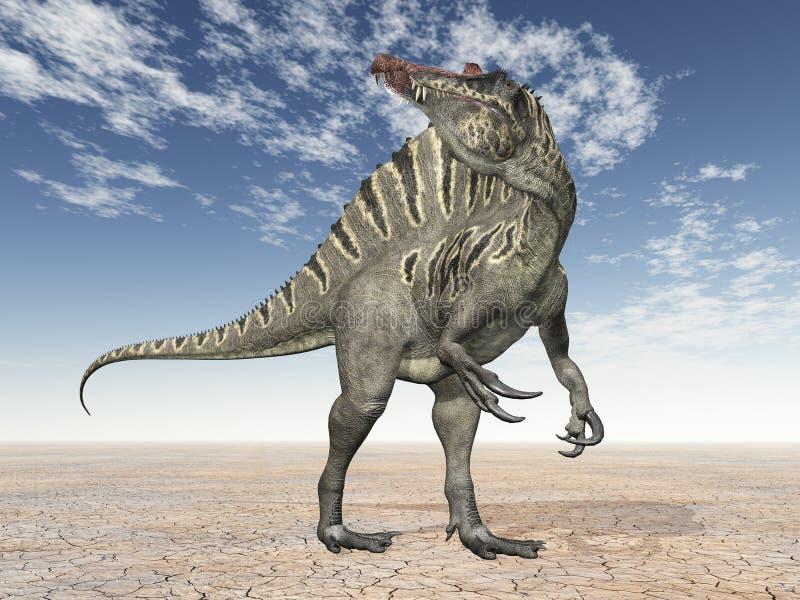 Dinosaur Spinosaurus vektor illustrationer