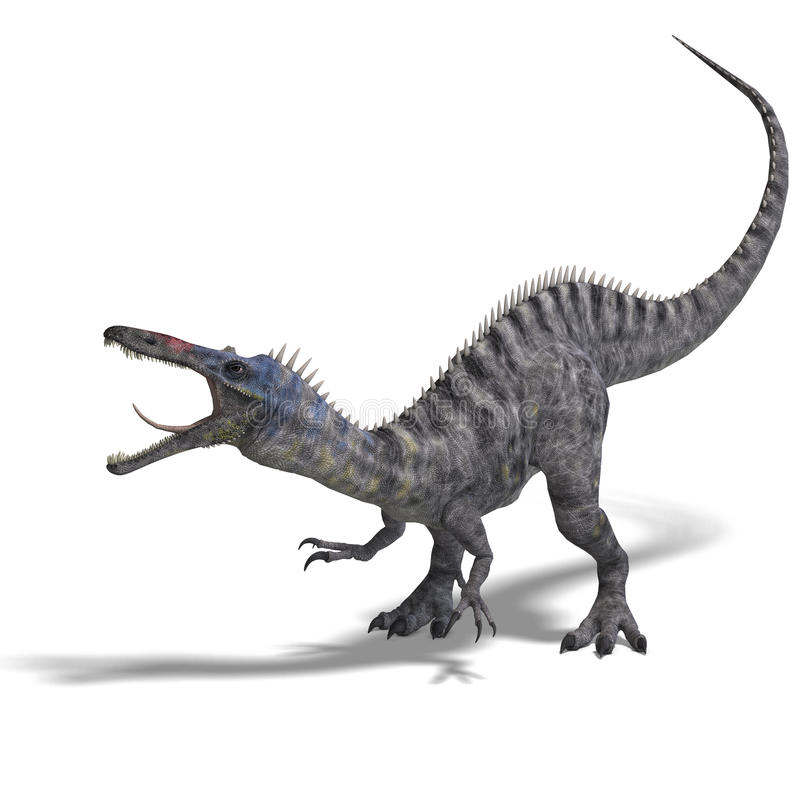 Dinosaur Suchominus illustration de vecteur