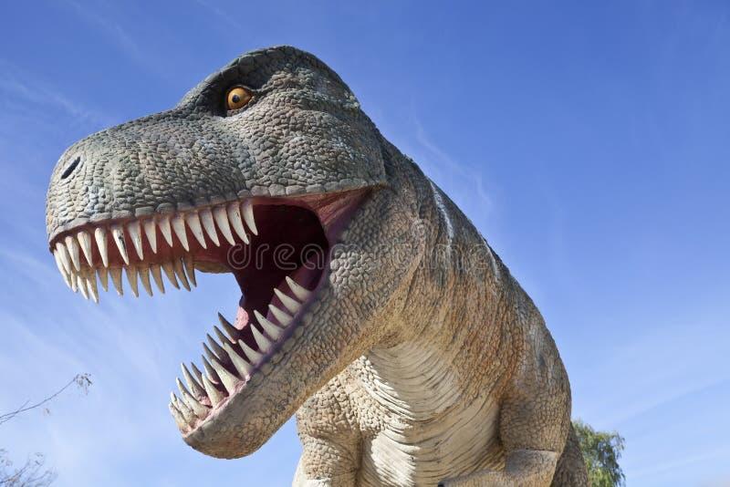 Dinosaur T-Rex. Life size model of a Tyrannosaurus rex for a dinosaur exhibition in Lisbon, Portugal stock photo