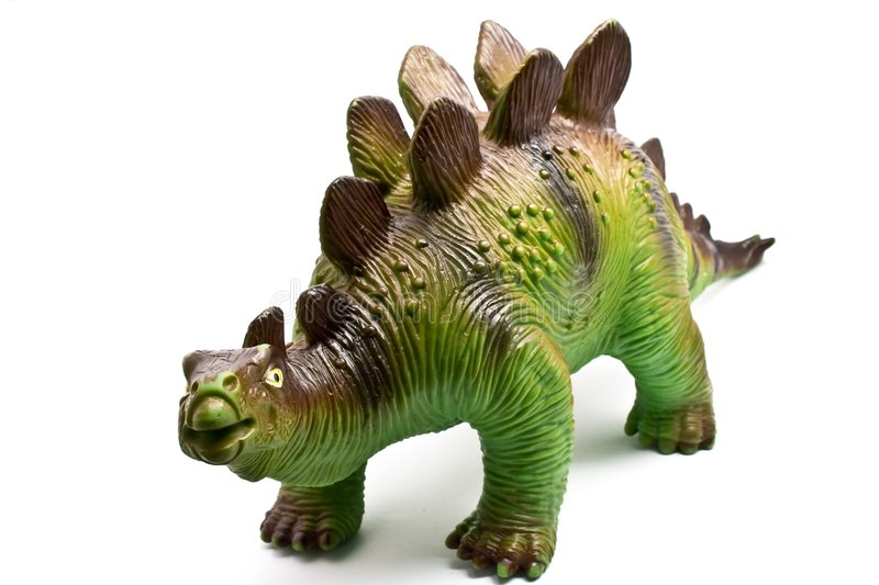 Dinosaur toy isolated on white stock photography