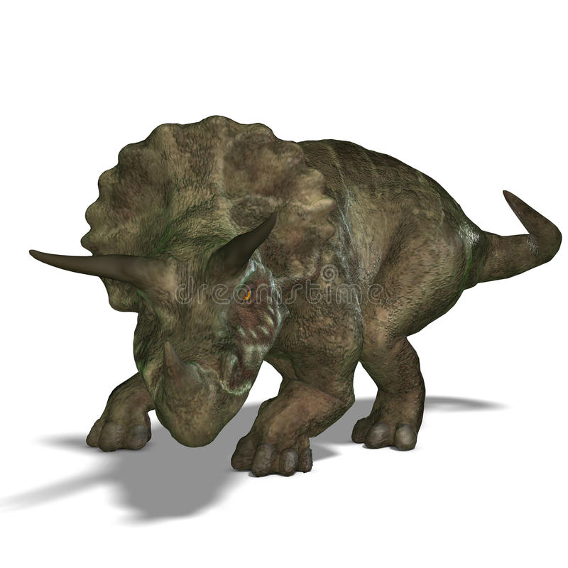 Download Dinosaur Triceratops stock illustration. Image of animal - 10360092