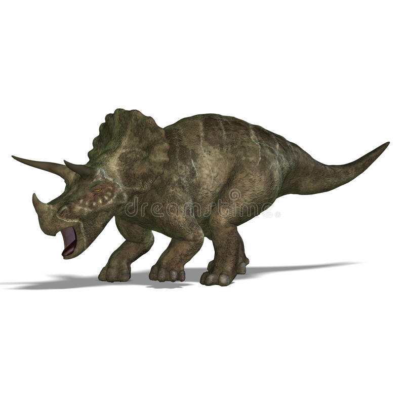 Download Dinosaur Triceratops stock illustration. Image of ceratopsia - 10434269