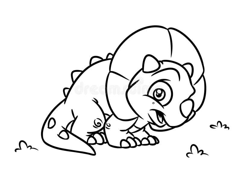 Dinosaur Triceratops Coloring Page Cartoon Illustrations Stock Illustration Illustration Of Triceratops Contour 88412959