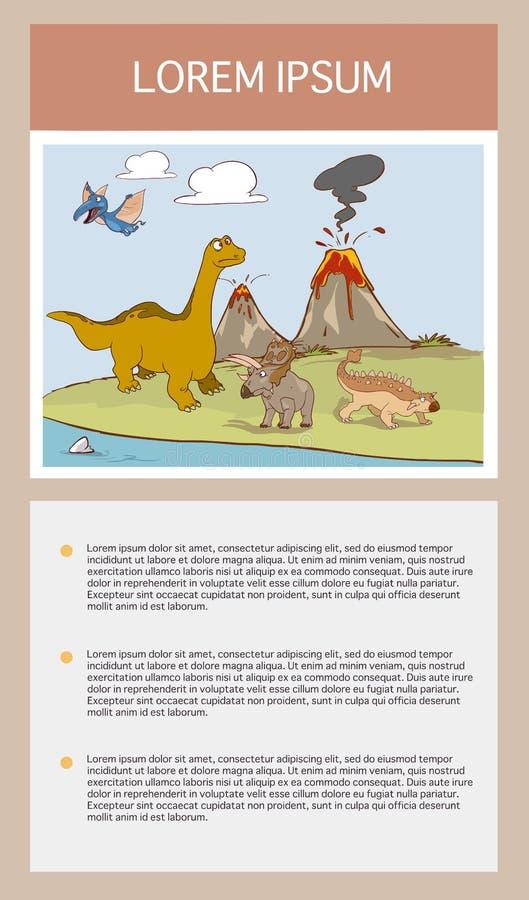 Dinosaur w lasowej ikony wektorowym ilustracyjnym graficznym projekcie ilustracja wektor
