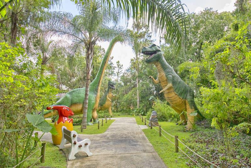 Dinosaur World Jurassic Grounds. The jurassic grounds of Dinosaur World in Florida royalty free stock photography