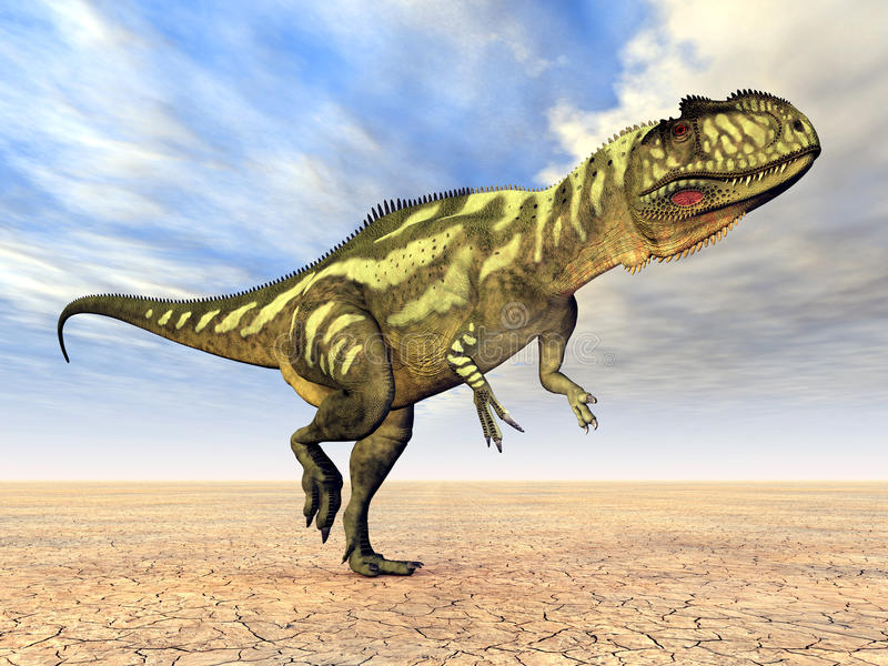 Download Dinosaur Yangchuanosaurus stock illustration. Image of huge - 26561166