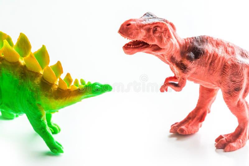Dinosaur zabawka na białym odosobnionym tle zdjęcia stock
