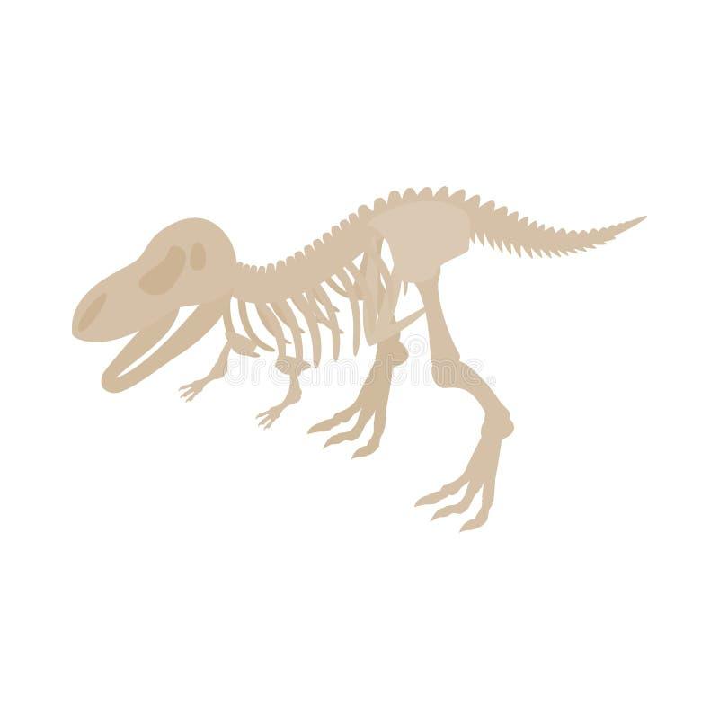 Dinosaur zredukowana ikona, isometric 3d styl ilustracji