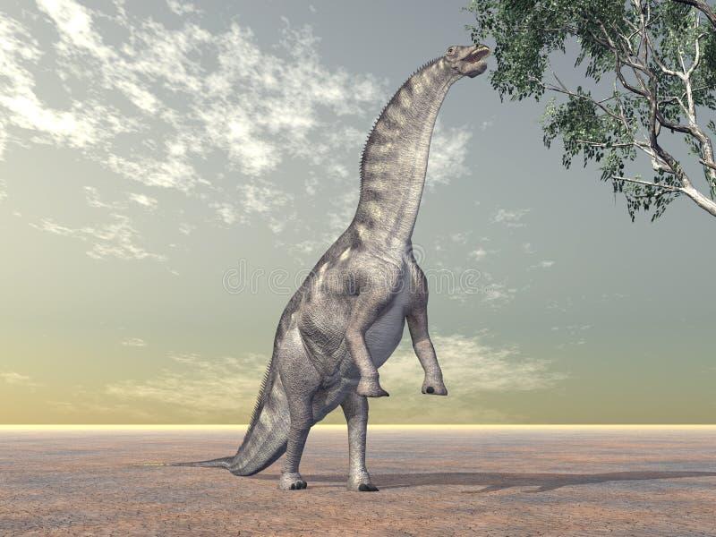Dinosaura Amargasaurus ilustracji