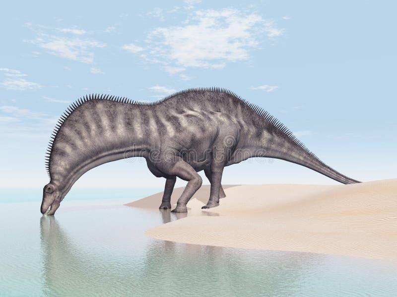 Dinosaura Amargasaurus royalty ilustracja