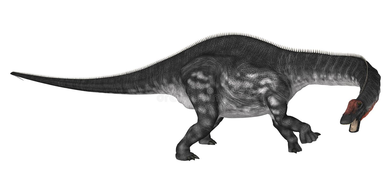 Dinosaura Apatosaurus ilustracji