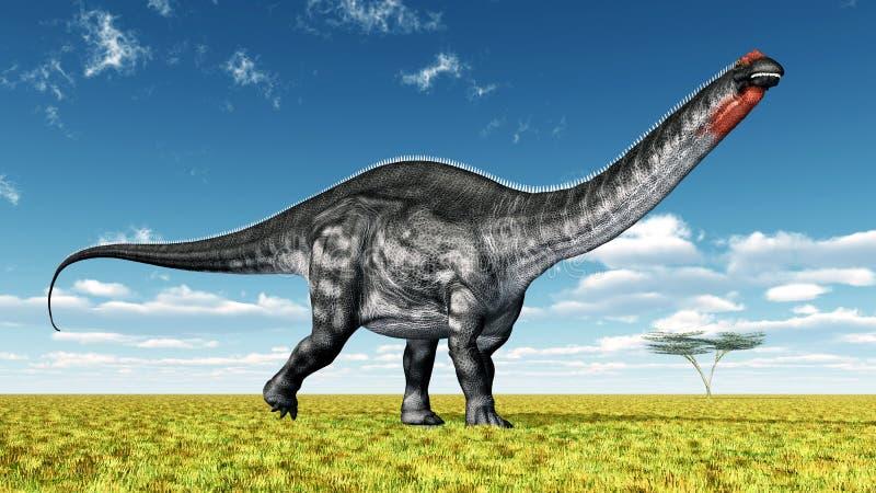 Dinosaura Apatosaurus royalty ilustracja