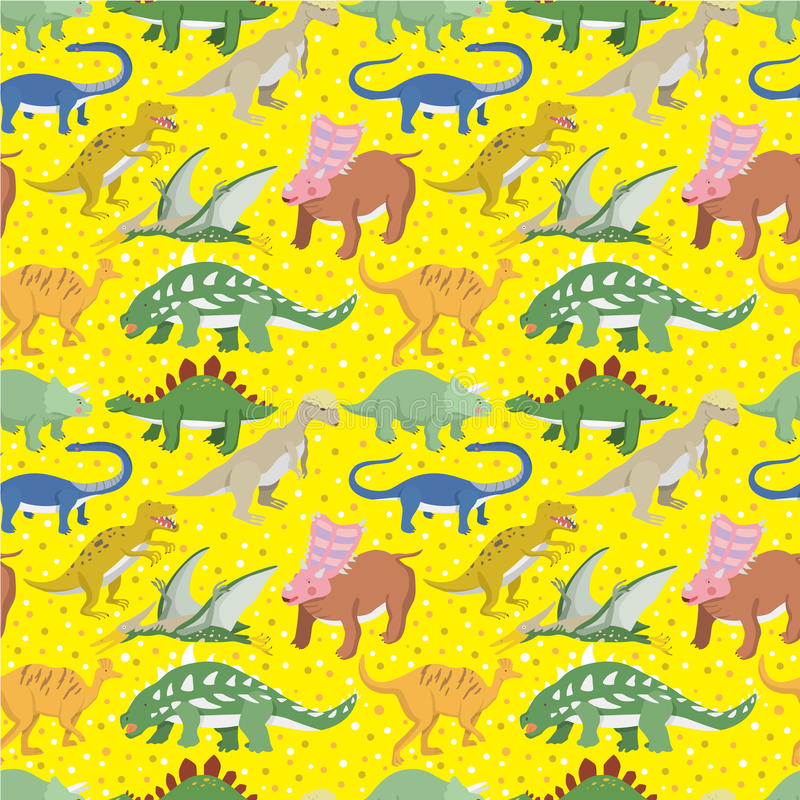 dinosaura bezszwowy deseniowy ilustracji