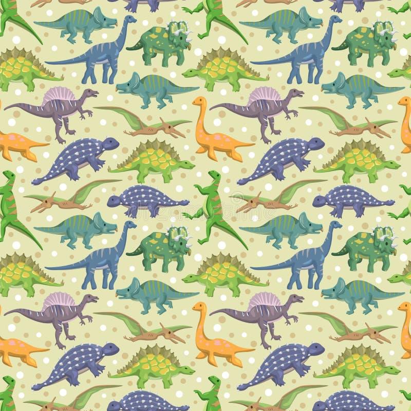 dinosaura bezszwowy deseniowy ilustracja wektor