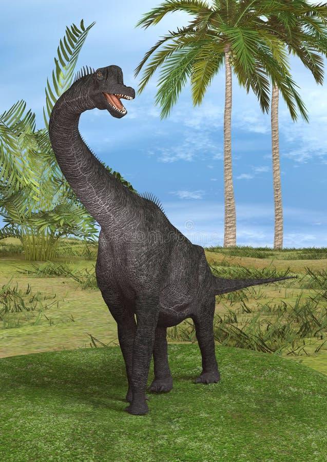 Dinosaura brachiosaurus royalty ilustracja