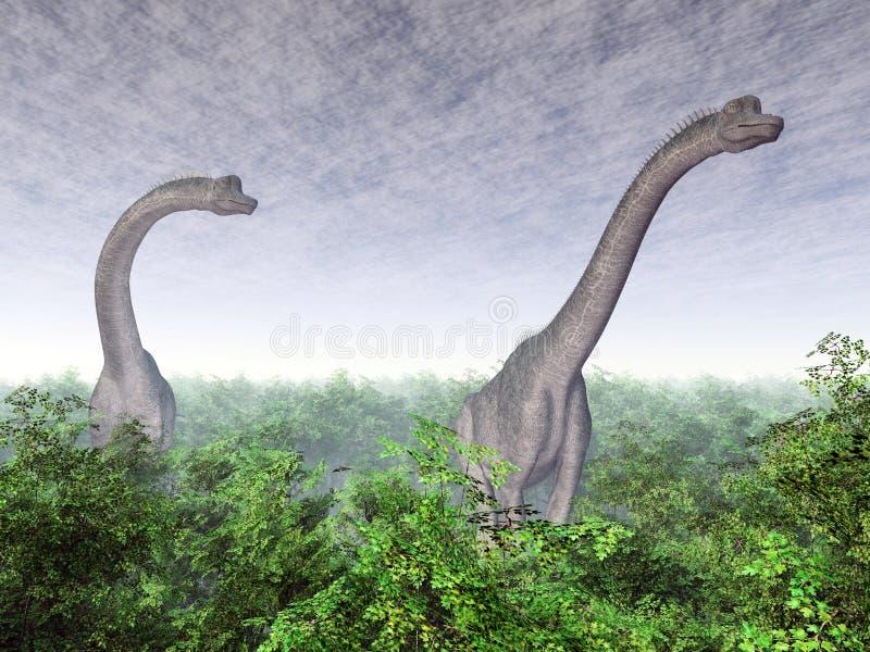 Dinosaura brachiosaurus ilustracja wektor