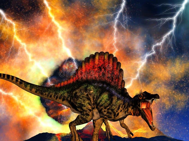 Dinosaura dzień zagłady royalty ilustracja