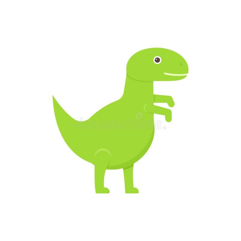 Dinosaura dziecka zabawka w płaskim projekcie ch?opiec kresk?wka zawodz?cy ilustracyjny ma?y wektor ilustracji
