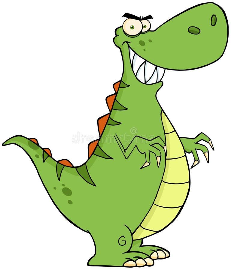 Dinosaura gniewny postać z kreskówki ilustracja wektor