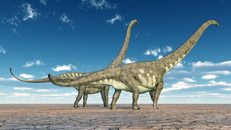 Dinosaura Mamenchisaurus royalty ilustracja