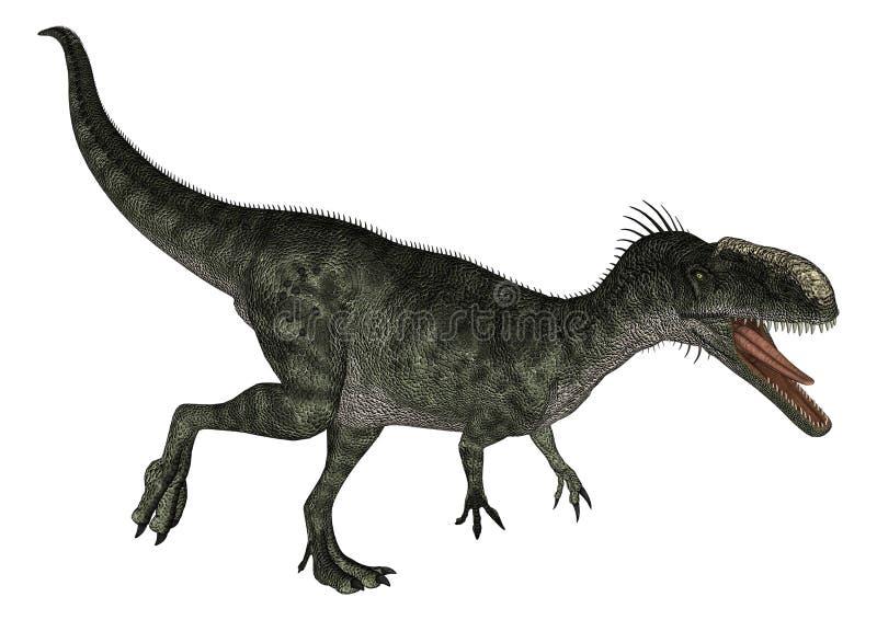 Dinosaura Monolophosaurus royalty ilustracja