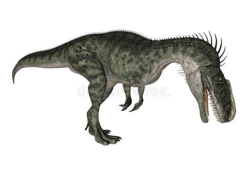 Dinosaura Monolophosaurus ilustracja wektor