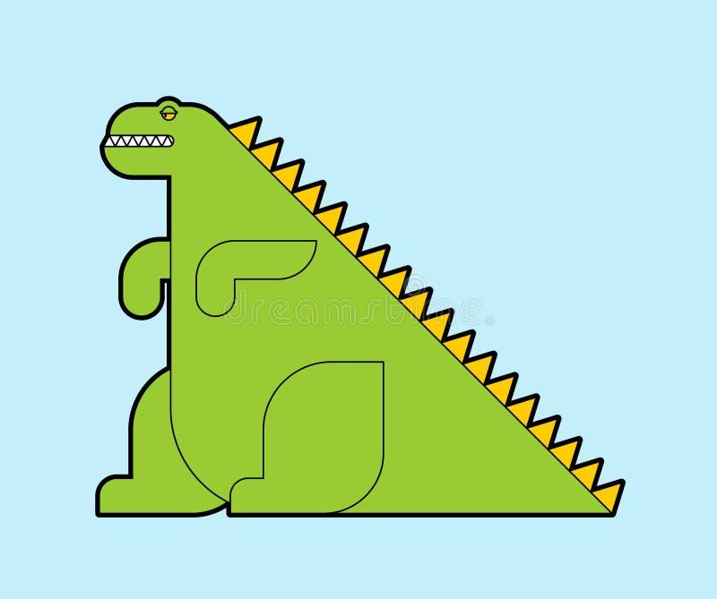 Dinosaura potwora kreskówka odizolowywająca Dino wektoru ilustracja royalty ilustracja