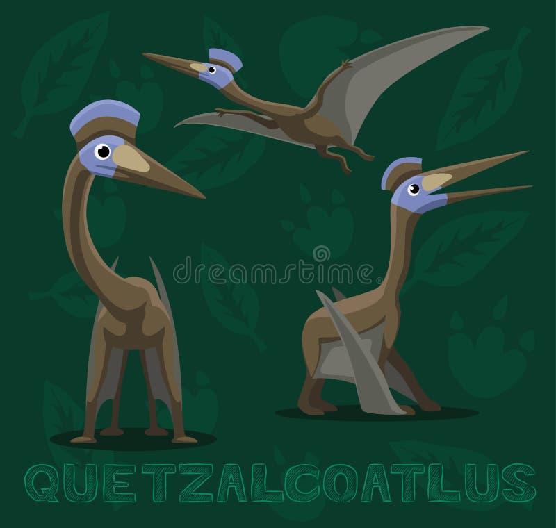 Dinosaura Quetzalcoatlus kreskówki wektoru ilustracja royalty ilustracja