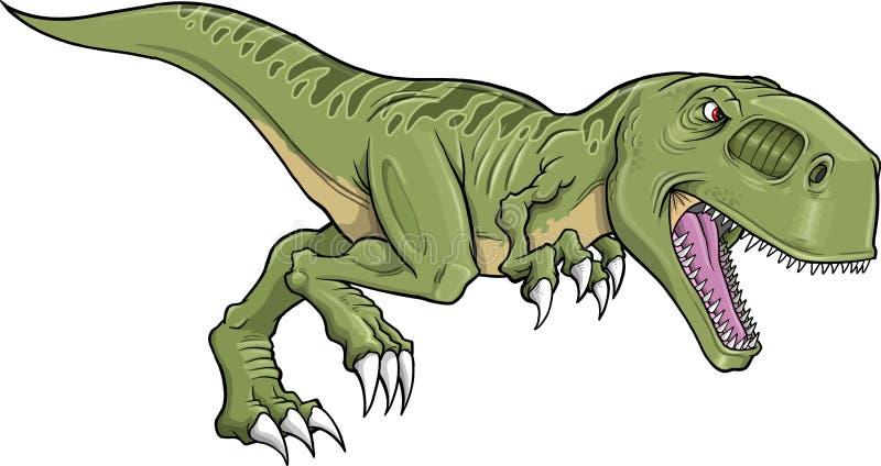 dinosaura rex tyrannosaurus wektor royalty ilustracja