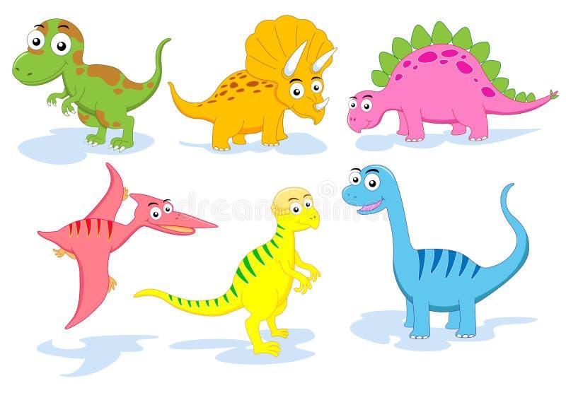 dinosaura set royalty ilustracja