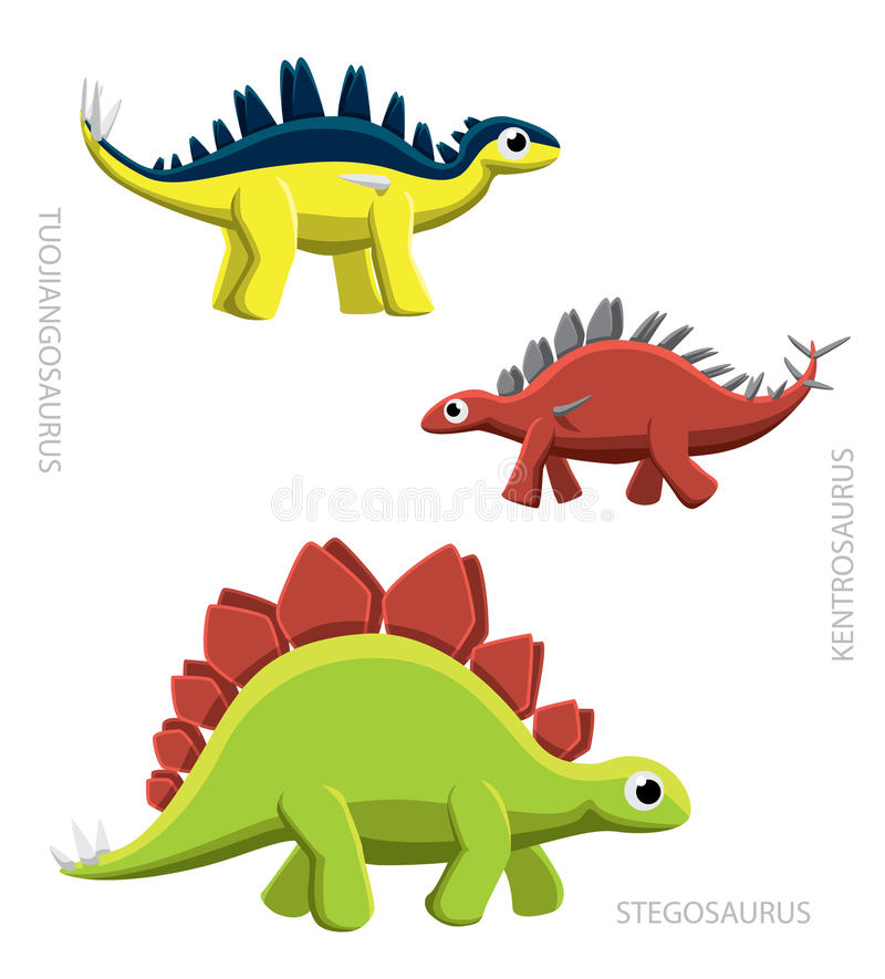Download Dinosaura Stegosaurs Wektoru Ilustracja Ilustracja Wektor - Ilustracja złożonej z porównanie, wektor: 57669593