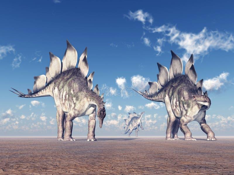 Dinosaura stegozaur royalty ilustracja
