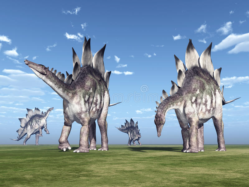 Dinosaura stegozaur ilustracja wektor