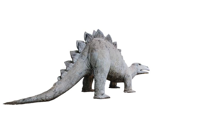 Dinosaura stiuk w parku fotografia stock
