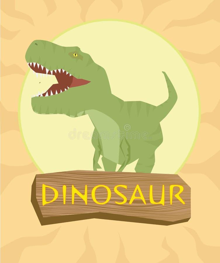 Dinosaura T-rex sylwetka przeciw słońcu ilustracji