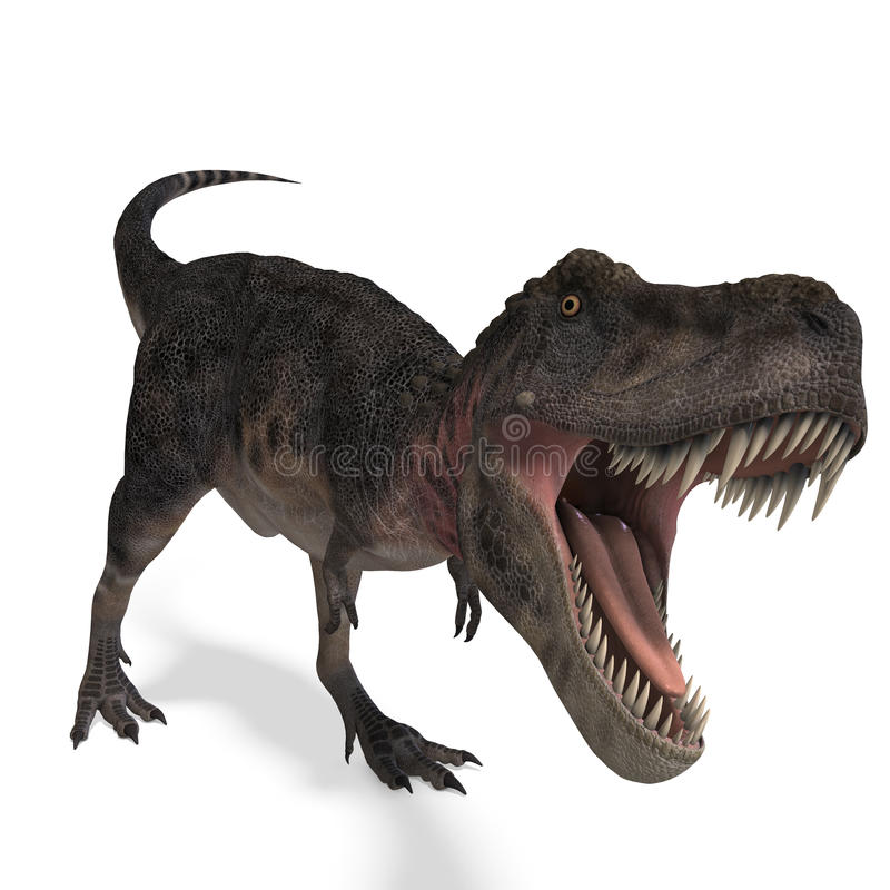 dinosaura tarbosaurus royalty ilustracja