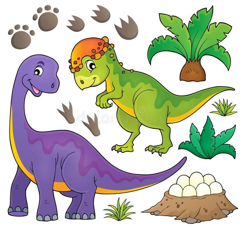 Dinosaura temat ustawia 5 royalty ilustracja
